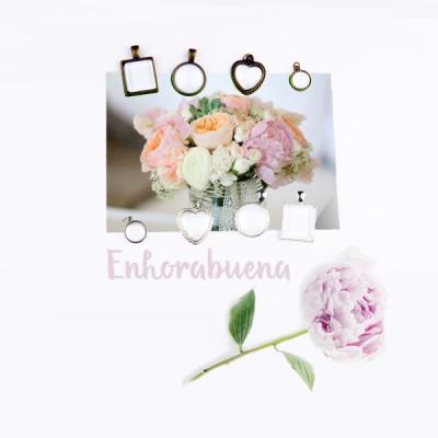 Colgantes personalizados para ramo de novia - Fichate