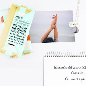 Colgante personalizado redondo pequeño Vive, ríe, ama - Fichate